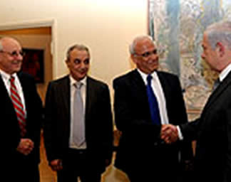 Israeli_Prime_Minister_Benjamin_Netanyahu_greets_members_of_the_Palestinian_Authority_delegation_Saeb_Erekat_and_Majid_Faraj_Israeli_Government_Press_Office__April_17_2012
