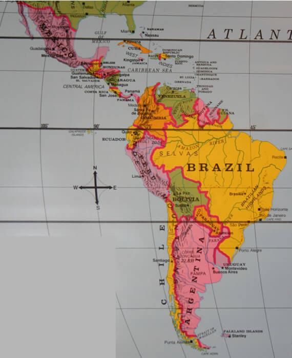 latin am map