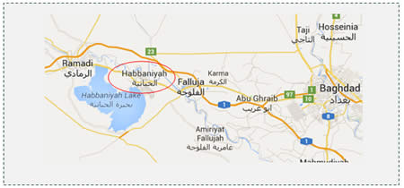 1 The city of Habbaniyah controlled by the Iraqi Army