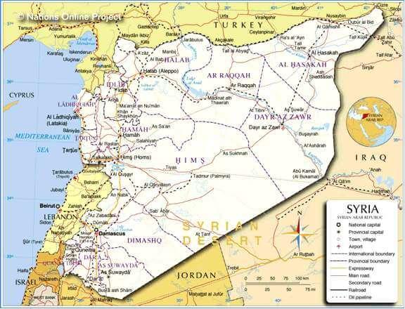 SYRIAN MAP
