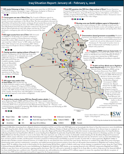 Iraq Situation Report: January 26 - February 1, 2016