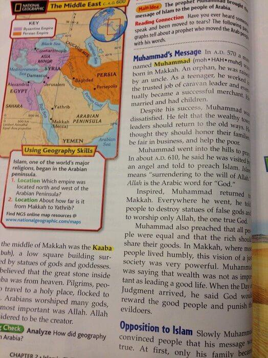 Muhammad Teachings taught in public schools