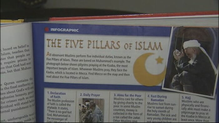 indoctrinating students with Islam