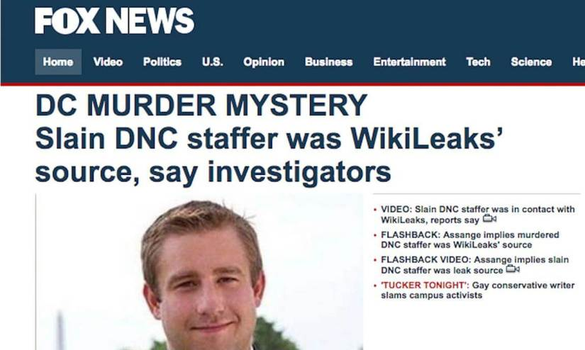 Fox News Says Federal Investigator is Source for Seth Rich-Wikileaks Claims